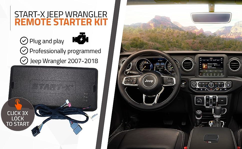 Smartphone App OEM Add On Plug /& Play Remote Start 2007-2018 Jeep Rubicon JK