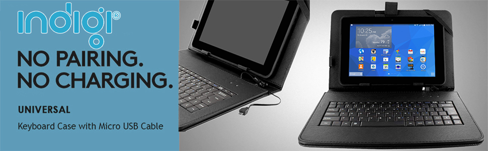 keyboard case features micro usb