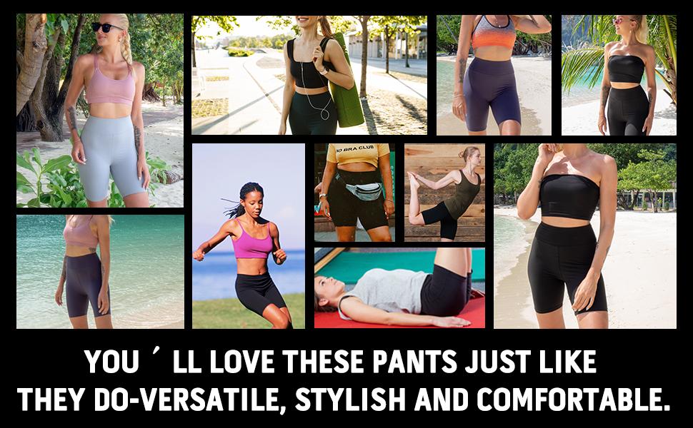 bike shorts high waisted yoga pants under dress boy shorts cycling pac underwear fashion butter soft