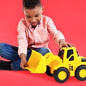 Boy Playing Construction Toys