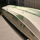 TotalBoat TotalFair Epoxy Fairing compound applied to properly prepared fiberglass on a boat.