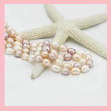 Pink, white, purple pearkl necklace