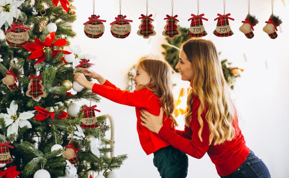 Navidad Árbol de patinaje de Tela de Algodón Pájaros Estrellas De Oro Rojo Navidad Festivo material