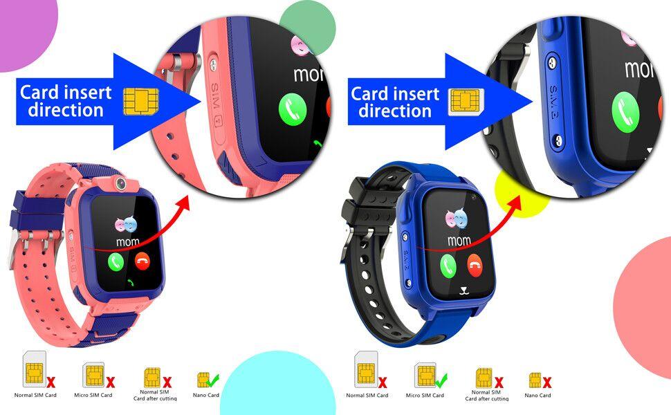 girls waterproof watch unlocked phone smart watch for girls kids watches kids watches boys