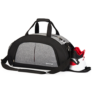 Sports Gym Bag with Wet Pocket & Shoes Compartment Travel Duffel bag for Women & Men(Black)