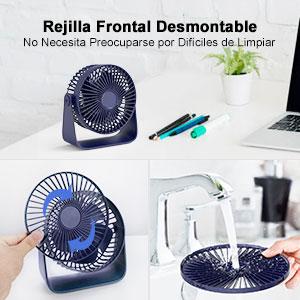 TedGem Mini Ventilador USB, Ventilador de Mesa 360 ° Rotación, Ventilador USB Silencioso Puede Poner Aceites de ...