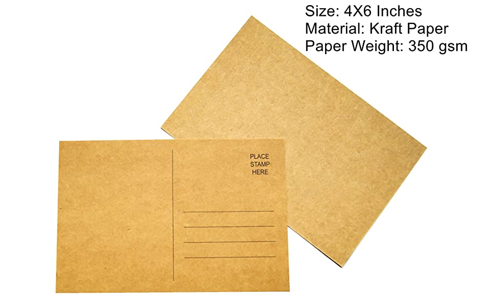 """Sustainable Greetings 100 Count Blank Kraft Paper Mailable Postcards 4/"""" x 6/"""""""