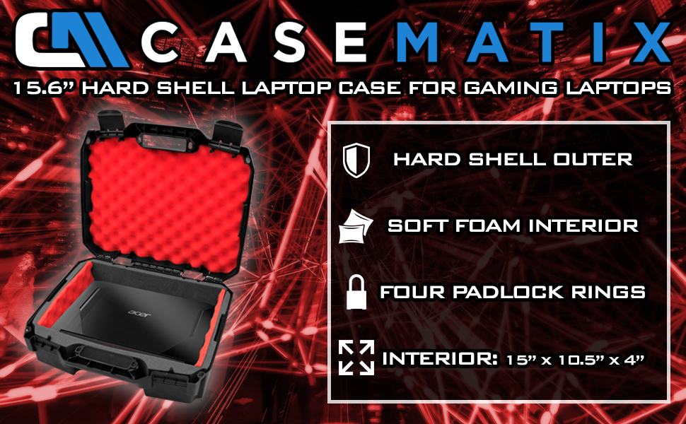 laptop sleeve carrying case hard shell for gaming laptops