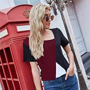 Short sleeve top with jeans
