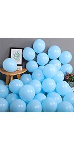"10 Sky Blue 10/"" Pastel Helium Balloons-Wedding 003"