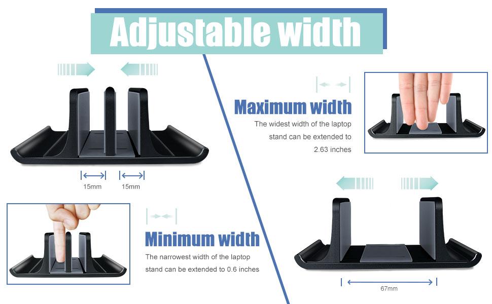 Vertical Laptop Stand-Black