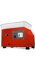 Guellin M/áquina de Cer/ámica El/éctrica 350W M/áquina de Cer/ámica El/éctrica de Rueda 25CM Ceramics Clay Machine Kit de DIY Control de velocidad con pedal