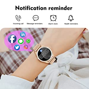 w  Yocuby Smart Watch for Women,Bluetooth Fitness Tracker Compatible with iOS,Android Phone, Sport Activity Tracker with Sleep/Heart Rate Monitor, Calorie Counter 9108d1dc f01d 4967 98d1 508bb3117a15