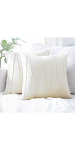 Striped Cream Pillow Covers