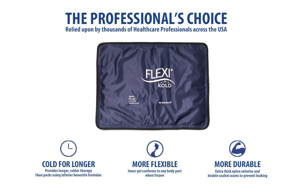 FlexiKold Gel Cold Ice Packs EBC A+ Professional's Choice Pack Therapy Cool Wrap Knee Shoulder Arm