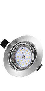 foco intercambiable para techo LED para ba/ño 82Ra Foco empotrable techo Bojim GU10 IP44 focos cepillados mate juego blanco c/álido 2800K 230V con 6 l/ámparas de 6W y 600LM /ángulo de haz de 120 /°