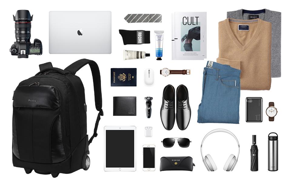 , Carry On Wheeled Laptop Bag Luggage Suitcase