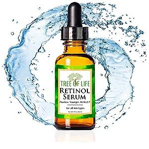 organic 2.5% retinol moisturizer serum for face retin a skin cream tretinoin acne treatment for eye