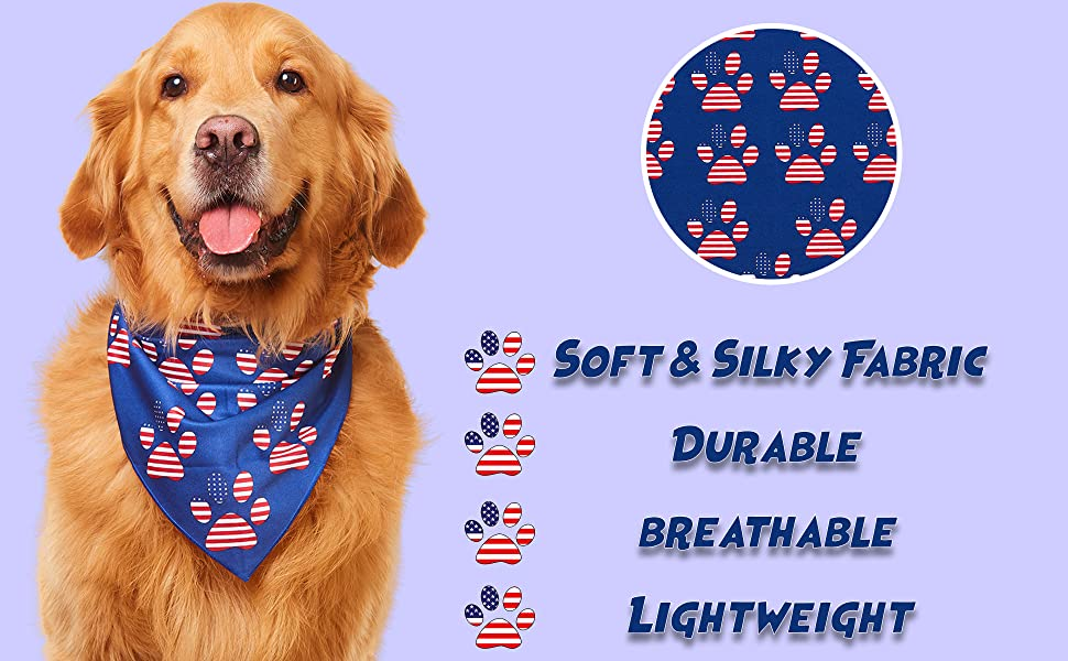 trump bandana dog for dogs fourth of july patriotic bandanas usa american flag red white and blue