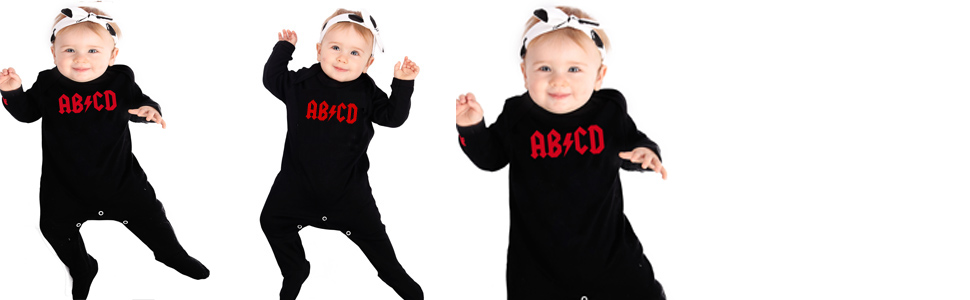 AC/DC Baby Clothes Bodysuit Baby Grow Romper Sleepsuit Gift