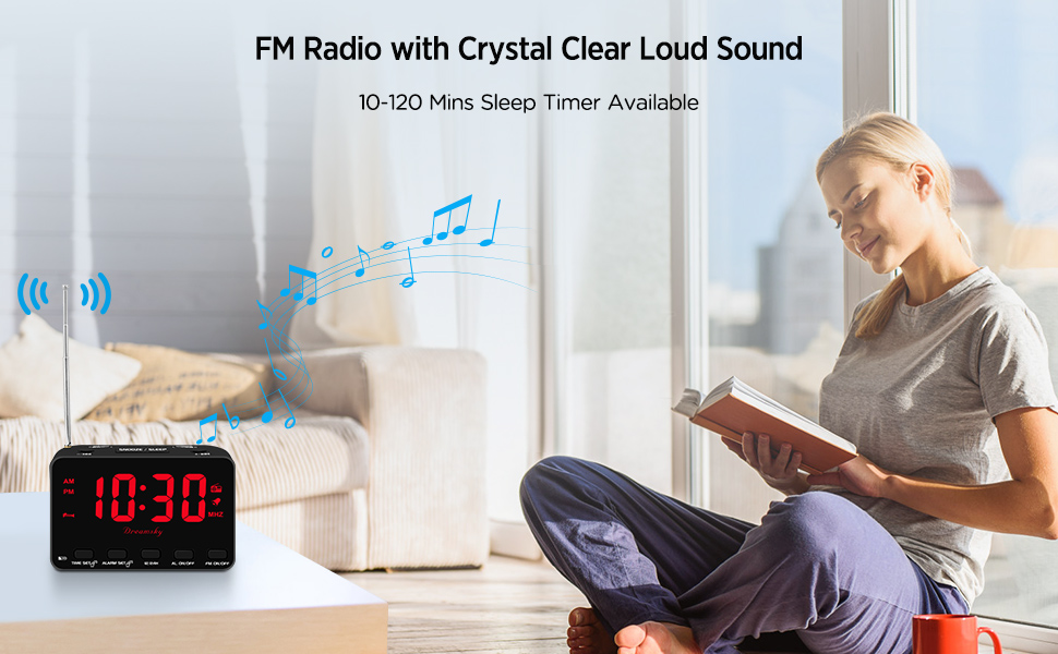 alarm clock radio with usb port