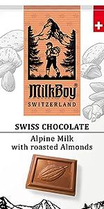 Alpine Milk Chocolate Bars with Roasted Almonds