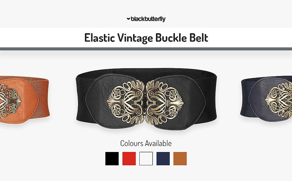 Elastic Vintage Buckle Belt