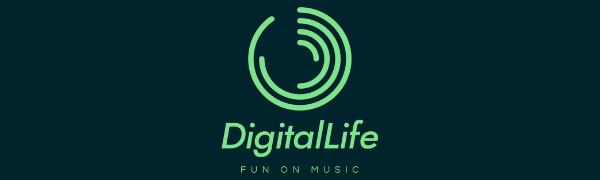 Digitallife Interface USB type B Midi pour contrôleur DJ piano avec anneau magnétique pour la production midi