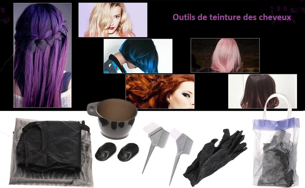 Anself Kit De Coloration Des Cheveux Teinture Bol De Teinture