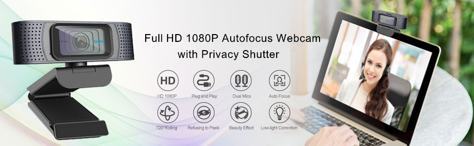Full HD 1080P WEBCAM WITH COVER