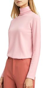 Women's Lightweight Long Sleeve Turtleneck Top