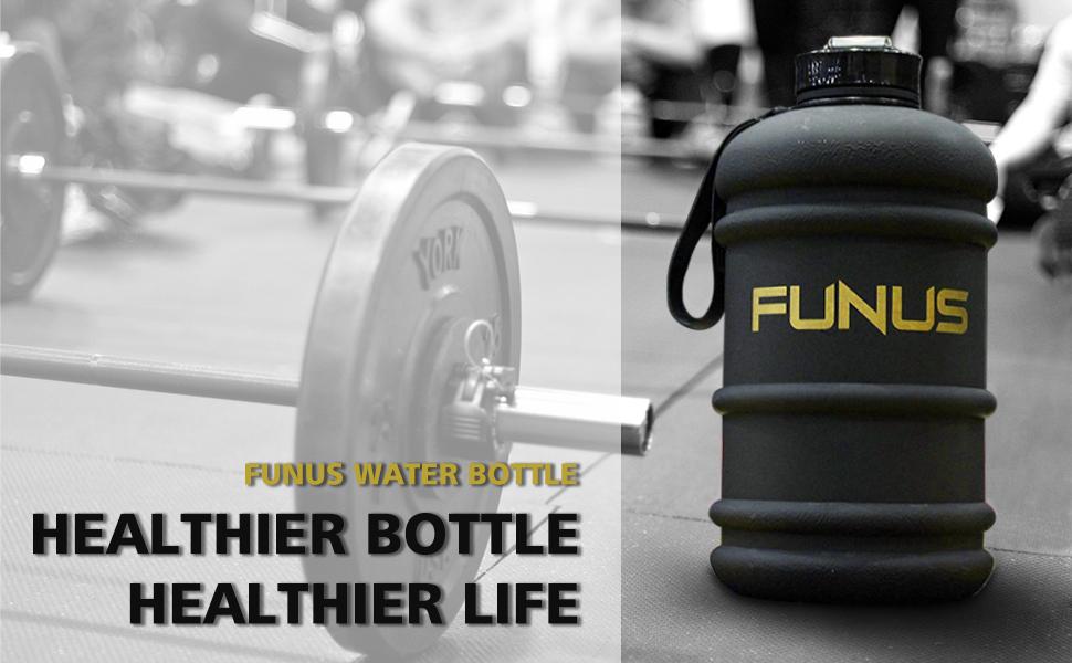 FUNUS Sports Water Bottle XL Jug Big Capacity Leak Proof Reusable BPA Free Large Water Jug for Men Women Workout Fitness Crossfit Gym Outdoor Hiking Sport Camping