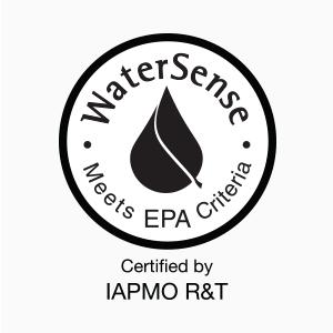WaterSense certified by IAPMO