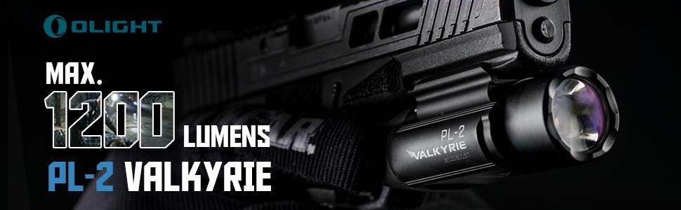 Olight PL-2 Valkyrie Cree XHP35 1200lumens /& PL-MINI 400 lumen Pistol Lights Lot