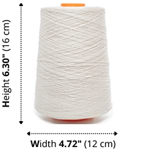 Lusie's Linen Yarn Cone Size
