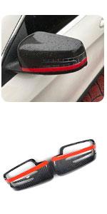 Benz W204 W212 W218 W176 W207 1:1 Replacement Carbon Fiber Mirror Covers Cap CF Rear View