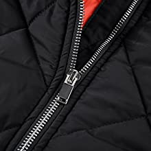 men's padded jackets athletic outwear casual cotton bomber coat outdoor recreation full zipper