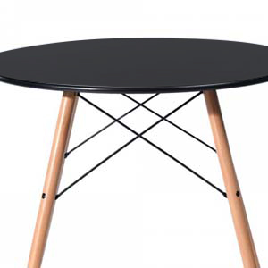 Kitchen Dining Table Round Coffee Table Black Collection Modern Leisure Tea Table Pedestal Desk