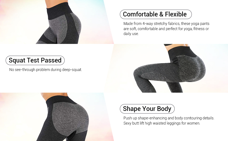 Power Stretch Yoga Leggings Moisture-wicking breathable quick dry Shape Your Body