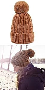 women knit hats