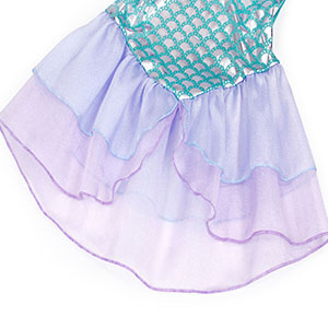 Little Girls Dress Mermaid Outfits Costume Princess Birthday Party Cosplay Clothes HG019-Green-113