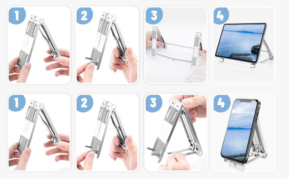 Compactible with iPhone/  Samsung Phone Stand, For iPad Stand