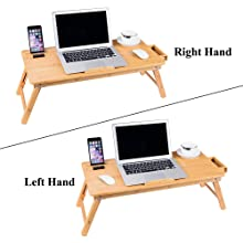 right-left hand bed tray