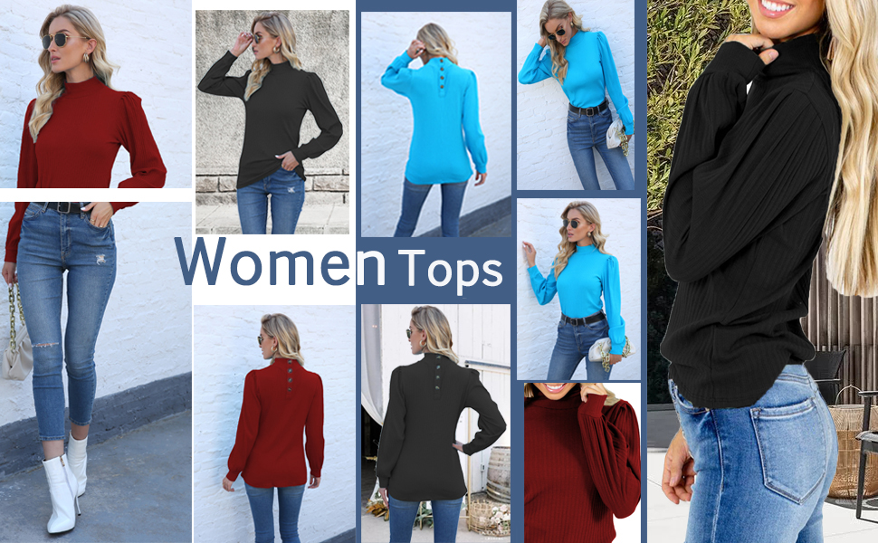 women's fashion long sleeve tops
