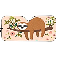 sloth  Car Sun Shade for Window Front