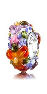 Flower Glass Charms