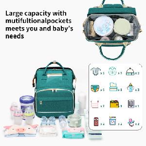 diaper bag baby bed