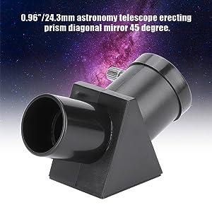 Refracting Telescope Erecting Prism Eyepiece Diagonal Mirror 45 Degree