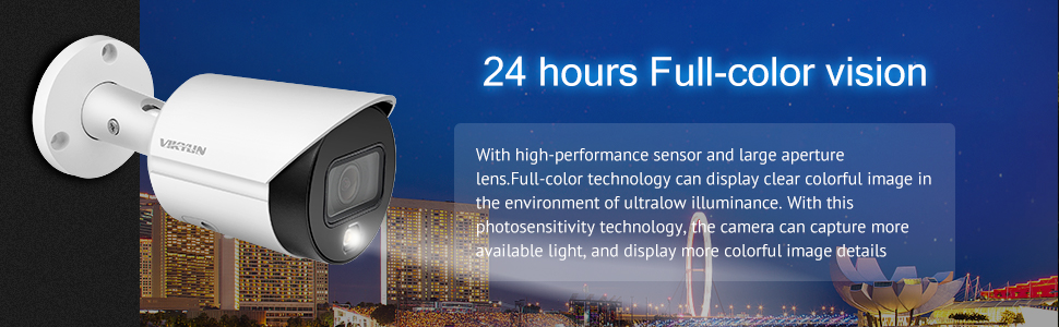dahua ip camera 4mp poe surveillance camera  24 hours full color vision outdoor security camera