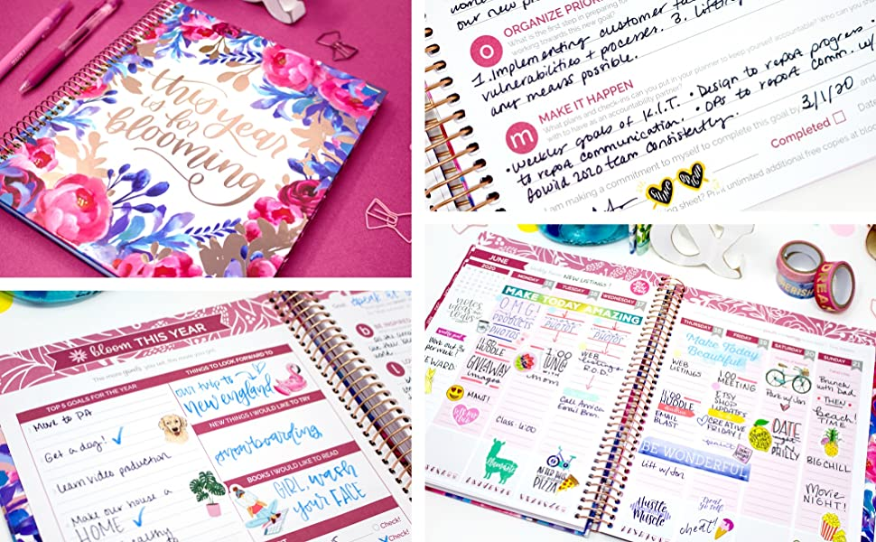 HARDCOVER bloom daily planners 2019-2020 Academic Year Vision Planner (August 2019 - July 2020) - Monthly & Weekly Column View Calendar Organizer - ...